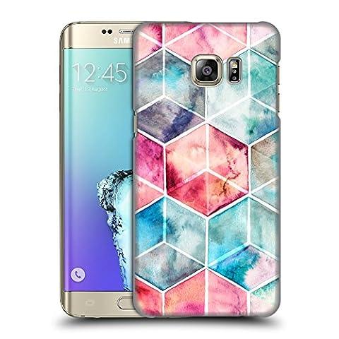 Offizielle Micklyn Le Feuvre Hexagon Kuben Muster 6 Ruckseite Hülle für Samsung Galaxy S6 edge+ / Plus