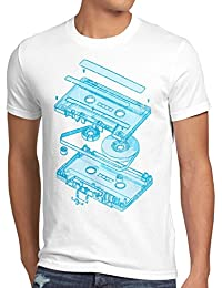 style3 DJ Tape T-Shirt Homme turntable 3D mc