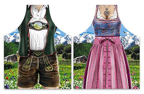 Preisvergleich Produktbild Kochschürzenset Dirndl & Lederhose (Bayerische Tracht) - Sonstige Textilien