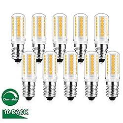 E14 LED Dimmbar Lampe Warmweiss, 5W Ersetzt 25W - 40w Halogen Lampen, Birne Leuchtmittel glühbirne, Warmweiß 2700K, 410LM AC 230V, 360°Lichtwinkel, 10er Pack, Viaus
