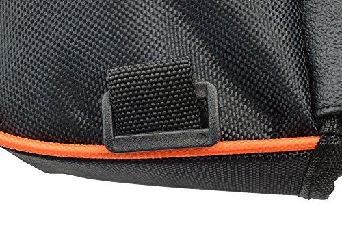 West Radfahren Fahrrad Front Tube Rahmen Tube Gepäcktasche Doppel Tasche für 10,7cm/12,2cm/14cm/15,2cm Plus Zoll Handy Orange - orange