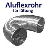 Flexible luftleitungen aus aluminium für lüftung. Aluminium Flex Rohr Flexschlauch Flexrohr Aluflexschlauch Lüftungsschlauch Länge von 30 bis 270 cm. Hitzebeständig bis 300 °C. Ø 80 100 125 150 mm (Ø 125 mm)