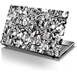 PIXELARTZ Pixel Artz Laptop Skin - Graffiti - Black & White - Stickers - HD Quality - 15.6 inches