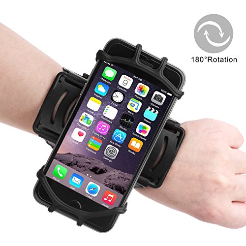 Skitic fascia da braccio telefono bracciale sportiva in neoprene fitness sport 180°ruotabile armband regolabile borsa da polso running jogging corsa resistente al sudore corsa braccialetto per 3.5