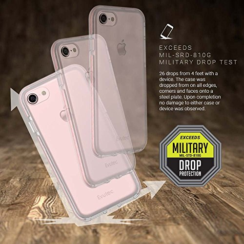 Evutec Selen kratzfest Leichte Schutzhülle für Apple iPhone 7–Smoke Silber Clear Rosegold