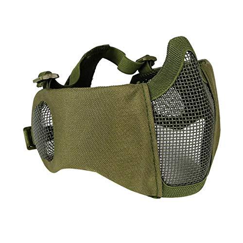 Wooya Taktische Cs Military Riot Adjustable Half Face Steel Wire Mesh Maske Mit Ear Protection-10