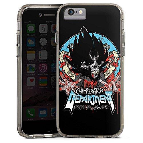 Apple iPhone 8 Bumper Hülle Bumper Case Glitzer Hülle Chimperator Fanartikel Merchandise Merchandising Pour Supporters Bumper Case transparent grau