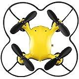 Virhuck Volar-360 Nano Drone 2,4 GHz 4,5 CH 6 AXIS GYRO Multicolor LED, Little Mini Quadcoper con Rotación 3D, 360 Grados Flips - Amarillo