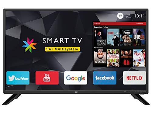Trevi Ltv 3208 Smart Televisore Smart TV 32' HD con Decoder Digitale Dvbt-T2 e Satellitare Dvbs-S2, Sistema Operativo Android, Risoluzione 1366 x 768 Dpi HD Ready