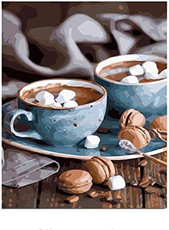 Café Bricolage Peinture Numéros Kit Peinture À La Main Peinture Mur À l'huile Cadeau Unique La Décoration Intérieure Mur Peinture Art Photo d5366e