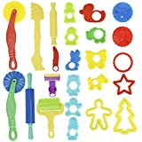 Kare & Kind Smart Dough Tools Kit with Models and Molds (Set of 24 Pieces) by Kare & Kind