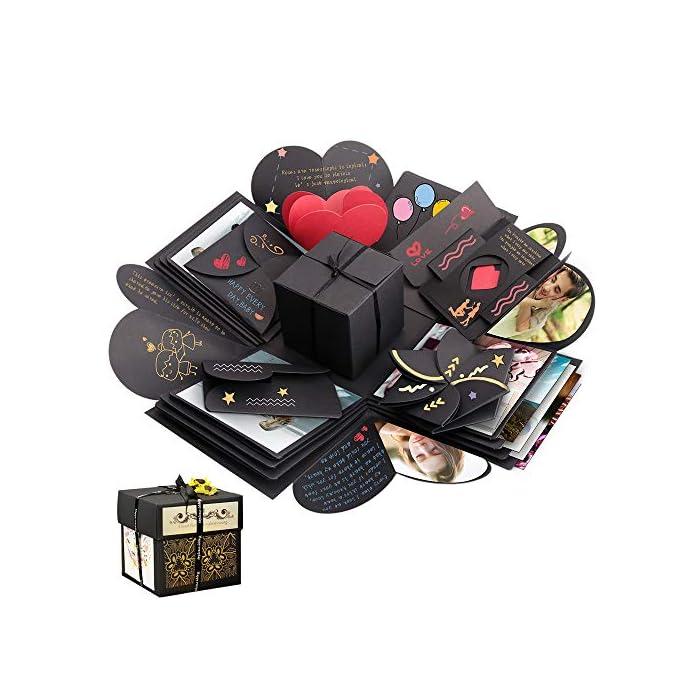 Sporgo Explosion Box, Geschenkbox, Kreative Überraschung Box DIY Fotoalbum Handgemachtes Scrapbook Geschenk für…
