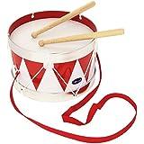 Goki 'cause 61001 - Tambor de hojalata, color blanco y rojo