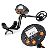 TACKLIFE Metal Detector - High Precision & Target Screenable Metal Detectors for Adults & Kids with Waterproof Coil , Adjustable Stem & Audio Jack.(9V Battery Include)