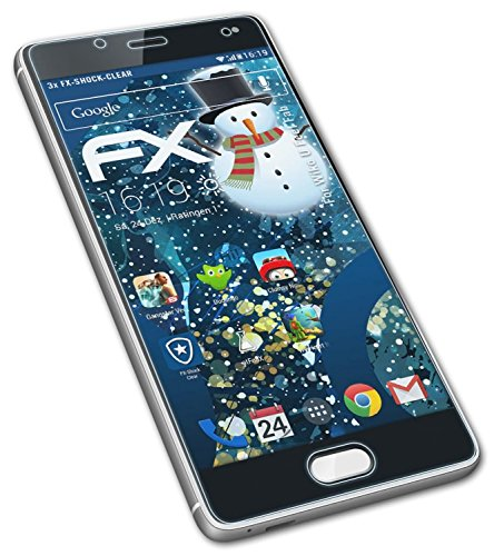 atFolix Schutzfolie kompatibel mit Wiko U Feel Fab Panzerfolie, ultraklare & stoßdämpfende FX Folie (3X)