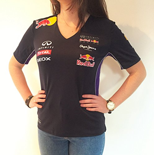 T-Shirt RED BULL RACING Official FEMME - XS, Bleu