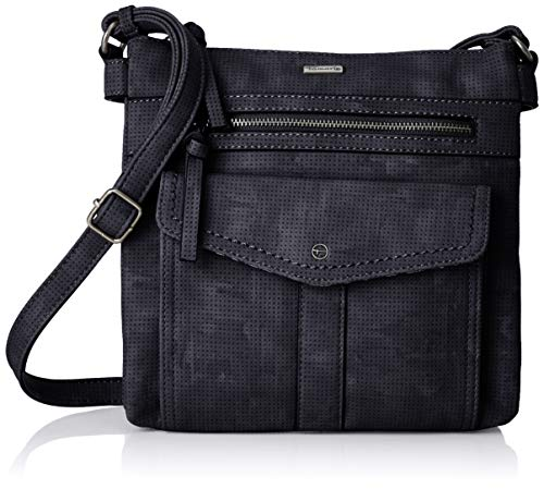 Tamaris Damen Adriana Crossbody Bag M Umhängetasche, Blau (Navy) 4,5x24x25 cm (Kleine Schulter-handtasche)