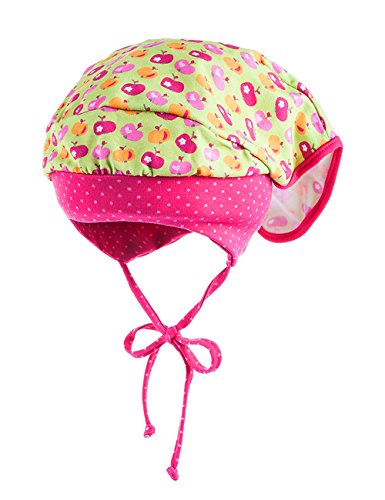 Mädchen-hellgrün (maximo Baby-Mädchen Kopftuchmütze Mütze, Mehrfarbig (Hellgrün-Äpfel 2), 47)