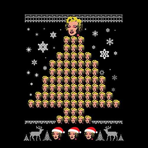 Andy Warhol Marilyn Monroe Christmas Tree Pattern Women's Sweatshirt Black