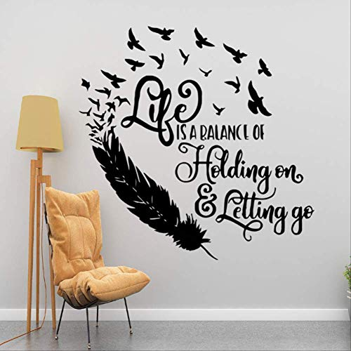 stickerzb Wände Aufkleber, Lebende Familie, Wandmalereien, Kunst, Wohnkultur, Dekoriert Wohnzimmer Schlafzimmer, Art-Deco-tapete 57x57cm