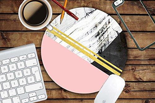 Preisvergleich Produktbild Rosa Marmor Geo Print Kreis Mauspad–Mousepad–Coworker Lehrer Geschenk
