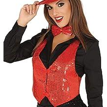 Guirca 17504 - Chaleco Lentej.Rojo para Mujer 3c5ea72c323f