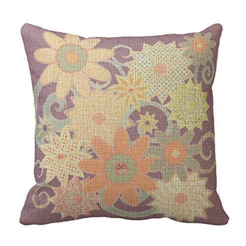 Zcfhike Cotton Linen Decorative Throw Kissen Case Cushion Cover Alphabet D 18 X18 - Mutterschaft Kissen Boppy