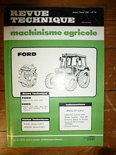 RTMA0050 REVUE TECHNIQUE MACHINISME TRACTEUR AGRICOLE FORD 2610 2910 3610 3910 4110 4610