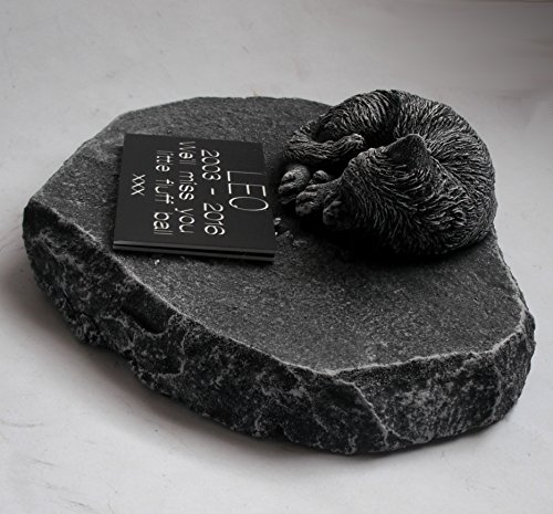 ClassCast Sleeping CAT MEMORIAL PERSONALISED Rock Stone SYMPATHY PET Grave stone Bereavement 6