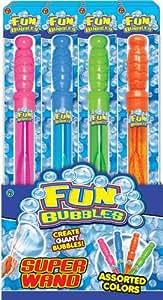 Fun Bubbles Wand 43 cm Long (Colors Vary) Giant Bubbles (24-Pack)