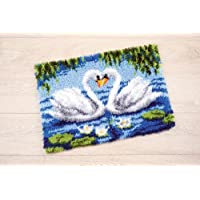 Vervaco Swans Latch Hook Rug Kit, Multi-Colour