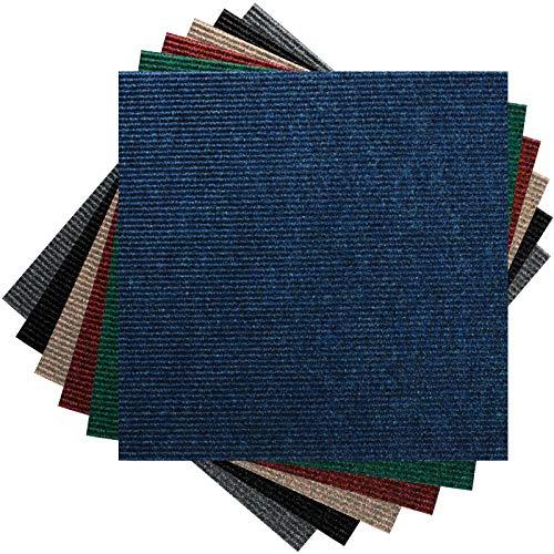 Premium Teppichfliesen Nadelfilz - 1m² - blau - selbstklebend