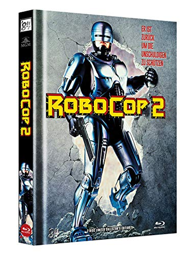 RoboCop 2 - 2-Disc Limited Collector\'s Edition - Uncut - Mediabook, Cover A (+ DVD) [Blu-ray]