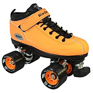 Roller quads RIEDELL DART jaune - T. 45 - patins à roulettes - roues 62 x 45mm 93A, ABEC 5