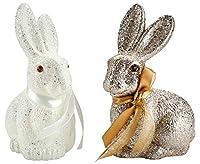 Coniglietto di Pasqua decorativo scintillante Stai cercando una nuova decorazione per Pasqua?  Gli scintillanti coniglietti pasquali sono ideali come decorazione per la casa o l'ufficio: un vero colpo d'occhio a Pasqua!  A causa dei luccicant...