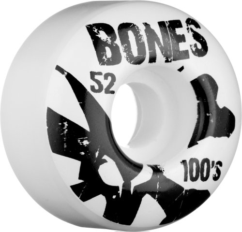 Knochen ™ Wheels OG 100's Skateboard-Rollen, weiß (Og Logo Deck)