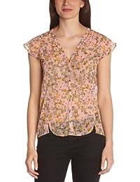 VERO MODA Damen Shirt AGNES S/S SHIRT MIX, Rundkragen,Uni