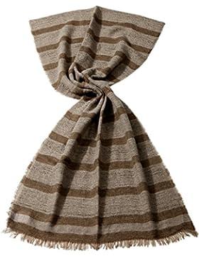 JOOP! Damen Schal Schur-Wolle Accessoire Gestreift, Größe: Onesize, Farbe: Braun