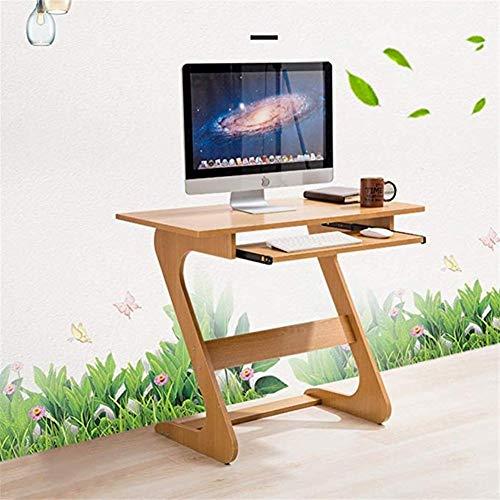 ZXPzZ Kleiner Computertisch Desktop Home Lazy Bed Nachttisch Schlafzimmer Schreibtisch Einfacher Schreibtisch (Farbe: Holzfarbe)