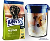 2 x 12,5 kg + Futtertonne 43 Liter Happy Dog Supreme Sensible Neuseeland
