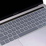 #10: Oaky Keyboard Skin Cover for Newest MacBook Pro 13 inch / 15 inch with TouchBar Release 2016 and 2017 Model [A1706/A1707] Ultra-Thin Waterproof Keyboard Protector TPU Keyboard Cover Waterproof Dust-proof Clear TPU Silicone Skin Keyboard Guard for Apple MacBook Pro 13