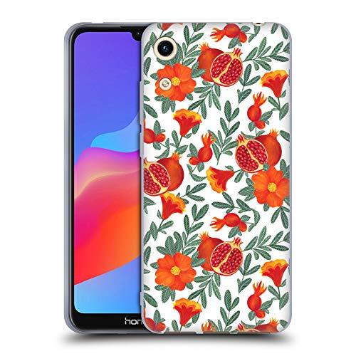 Gel Granatapfel (Head Case Designs Offizielle Julia Badeeva Granatapfel Modelli Tropicali 2 Soft Gel Huelle kompatibel mit Huawei Honor Play 8A)