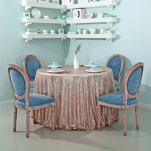 Zdada Rose Gold Glitzernden Pailletten Tischdecke Glitzer Pailletten Tisch Cover Bettwäsche für Elegante Hochzeit Party Event Banquet decoration-72Rund