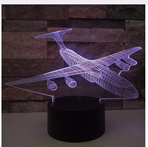 3D Nachtlicht Flugzeug 3D Nachtlicht Led Remote Touch Flugzeug Tischlampe Kämpfer 3D Lampe 7 Farbwechsel Usb Innenlampe