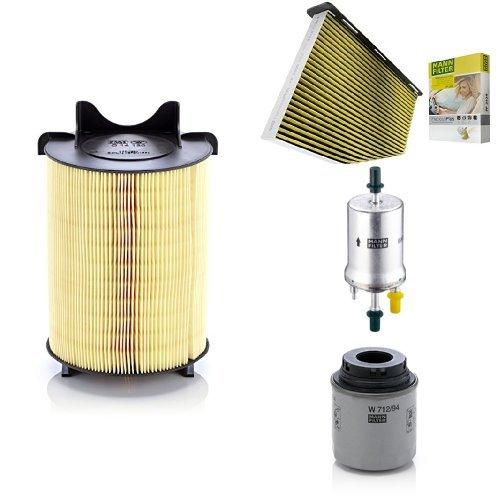 Preisvergleich Produktbild Mann-Filter Service Paket mit 1x Luftfilter C14130, 1x Freciousplus Innenraumfilter FP2939, 1x Kraftstofffilter WK69, 1x Ölfilter W712/94