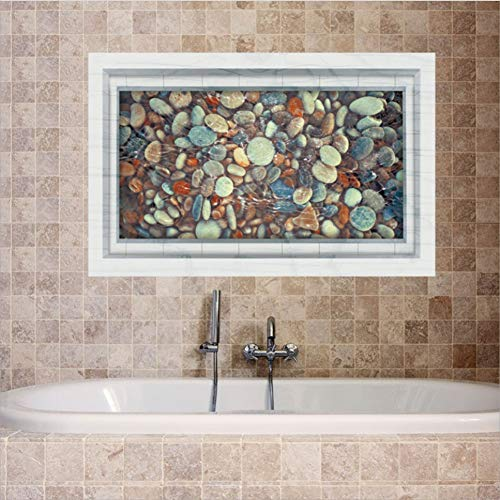 Wppaper Kieselsteine Teich 3D Bodenaufkleber Badezimmer Wohnzimmer Dekoration Wand Aufkleber PVC 60 * 90 cm