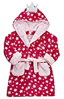 MiniKidz Girls Fairy Dust Star Dressing Gown Hot Pink 3-4