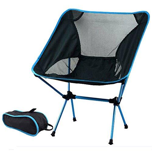 suyi tragbar-Outdoor Picknick angeln Campingstuhl, Rucksackreisen Stühle, langlebigem 600D Haarverdichtung Oxford Tuch, aus robustem Aluminium, Rahmen aus Legierung Heavy Duty (unterstützt 242 Lbs), mit Tragetasche, hellblau