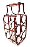 Metal Wine Rack Red by Ekdodhai