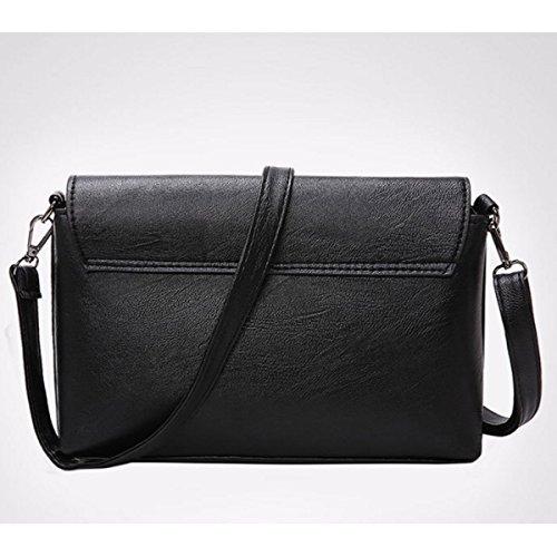 Damenmode Schultertasche Einfache Handtasche Kleines Quadratisches Paket Black